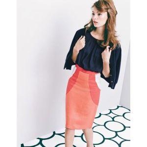 NWOT Boden Rose Bow Pencil Skirt
